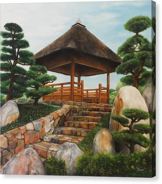 Clay Canvas Print - Chi Lin Nunnery Hong Kong by Kathleen Wong