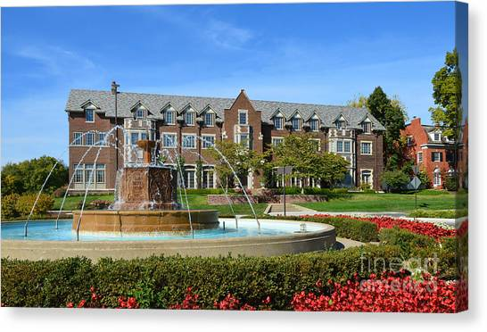Chi Omega Canvas Print - Chi Omega Fountain by Catherine Sherman