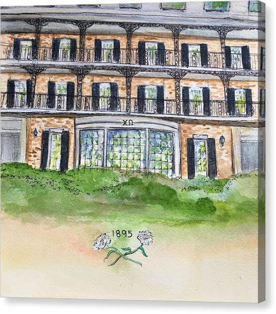 Chi Omega Canvas Print - Chi Omega by Starr Weems