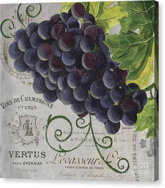Wine Canvas Print - Vins De Champagne 2 by Debbie DeWitt