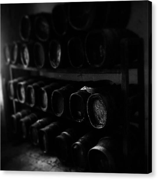 Wine Barrels Canvas Print - #chianti #classico #vinsanto #wine by Federico Rosati