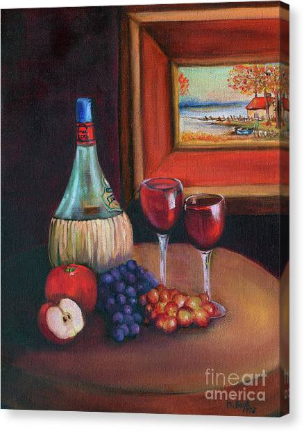 Chianti Still Life Canvas Print