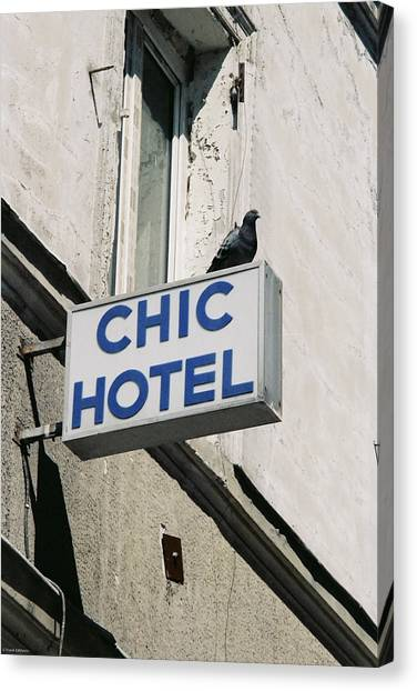 Chic Hotel Canvas Print