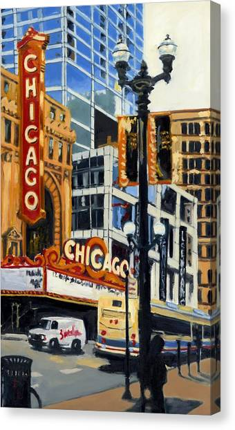 Chicago - The Chicago Theater Canvas Print