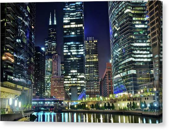 Hancock Building Canvas Print - Chicago Towers 2017  by Frozen in Time Fine Art Photography