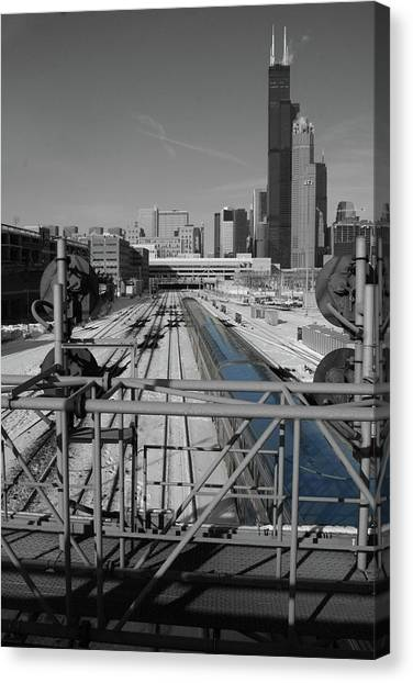 Canvas Print featuring the photograph Chicago Amtrak by Dylan Punke
