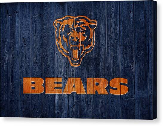 Chicago Bears Canvas Print - Chicago Bears Barn Door by Dan Sproul