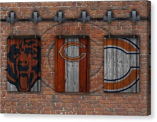 Chicago Bears Canvas Print - Chicago Bears Brick Wall by Joe Hamilton