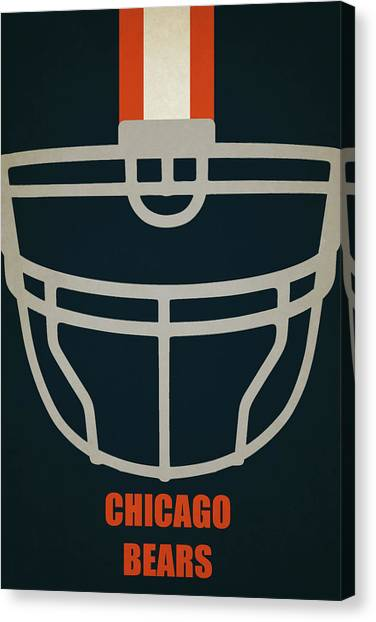 Chicago Bears Canvas Print - Chicago Bears Helmet Art by Joe Hamilton