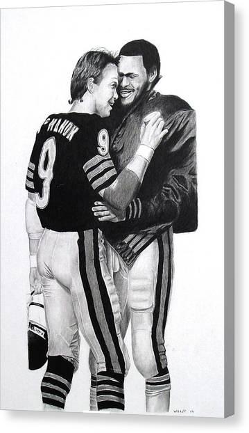 Espn Canvas Print - Chicago Bears Quarterbacks by Vincent Wolff