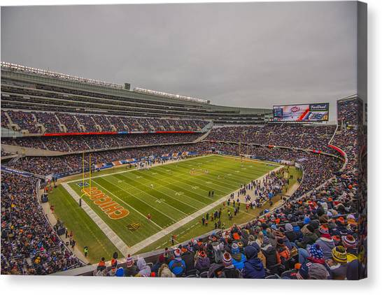 Walter Payton Canvas Print - Chicago Bears Soldier Field 7785 by David Haskett