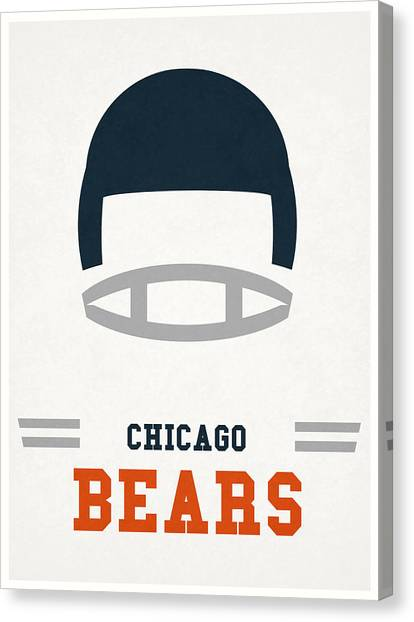 Football Teams Canvas Print - Chicago Bears Vintage Art by Joe Hamilton