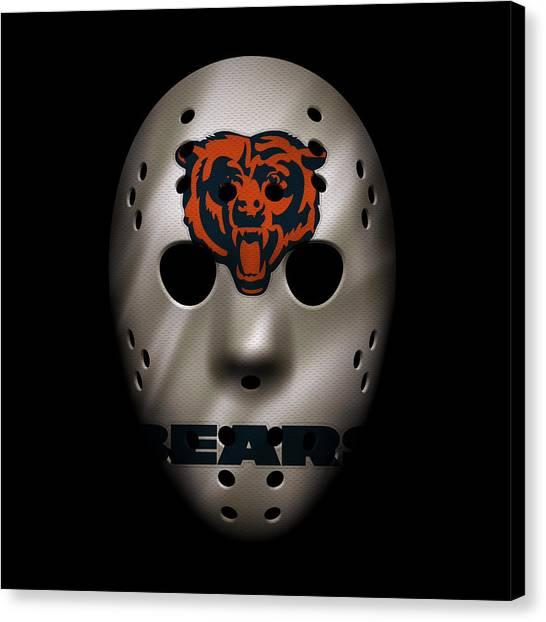 Chicago Bears Canvas Print - Chicago Bears War Mask 2 by Joe Hamilton