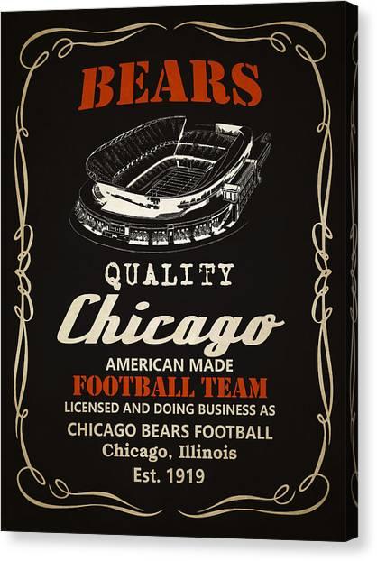Chicago Bears Canvas Print - Chicago Bears Whiskey 2 by Joe Hamilton