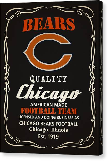Superbowl Canvas Print - Chicago Bears Whiskey by Joe Hamilton