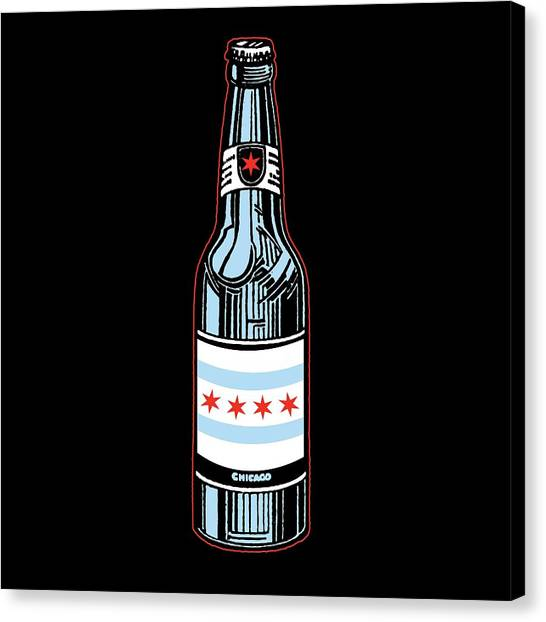 Beverage Canvas Print - Chicago Beer by Mike Lopez