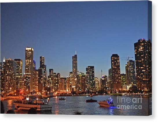Chicago Bright Canvas Print by Andrea Simon