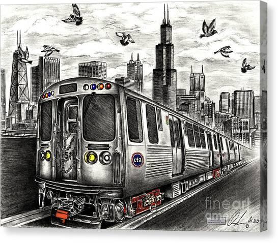 Chicago Cta Train Canvas Print