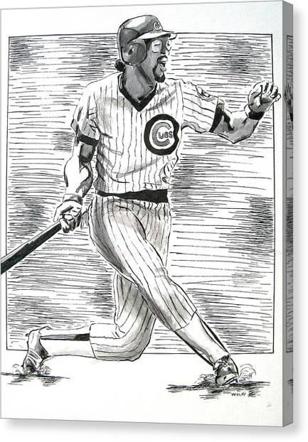 Chicago Cub Leon Durham Canvas Print
