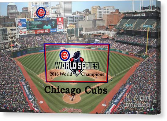 Chicago Cubs - 2016 World Series Champions Canvas Print