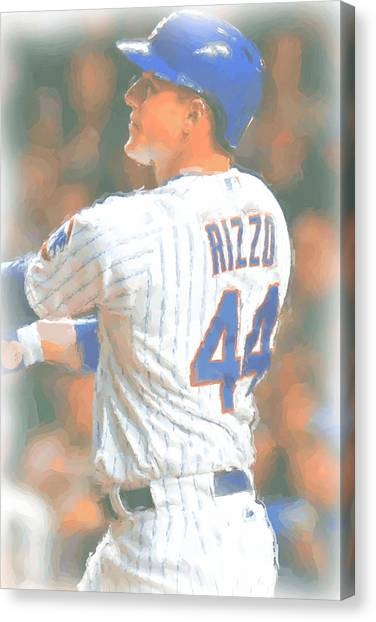 Chicago Cubs Canvas Print - Chicago Cubs Anthony Rizzo 2 by Joe Hamilton