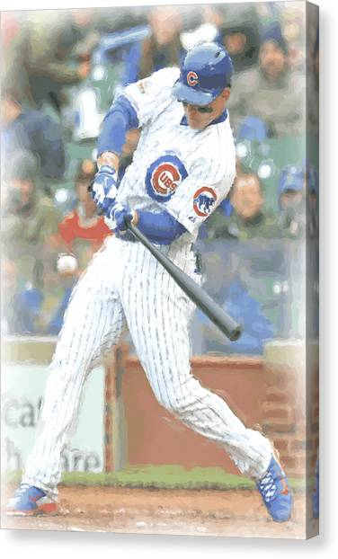 Chicago Cubs Canvas Print - Chicago Cubs Anthony Rizzo by Joe Hamilton