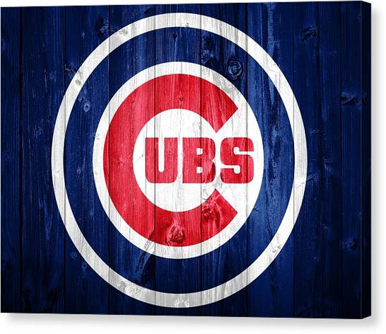 Bachelor Canvas Print - Chicago Cubs Barn Door by Dan Sproul
