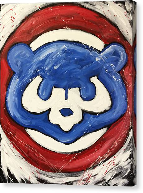 Bat Canvas Print - Chicago Cubs by Elliott From