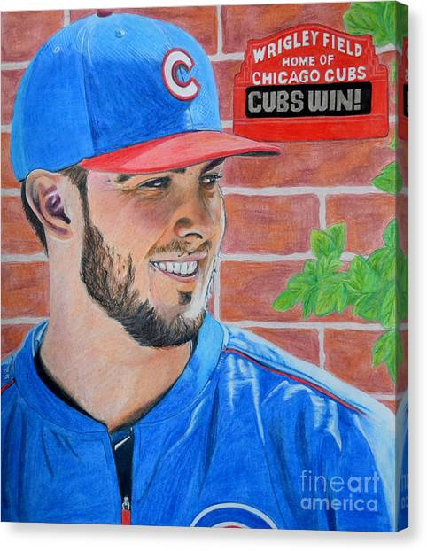 Chicago Cubs Kris Bryant Portrait Canvas Print