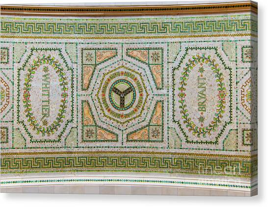Chicago Cultural Center Ceiling With Y Symbol Canvas Print