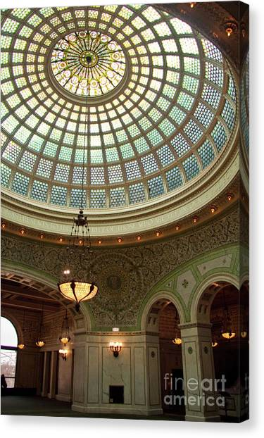 Chicago Cultural Center Dome Canvas Print