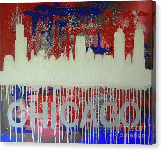 Chicago Drip Canvas Print
