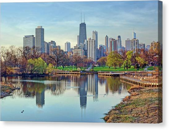 Chicago From Lincoln Park Canvas Print