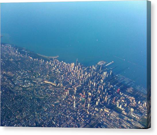 Chicago From Way Up Canvas Print by Jacob Stempky