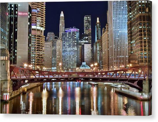 River Jordan Canvas Print - Chicago Full City View by Frozen in Time Fine Art Photography