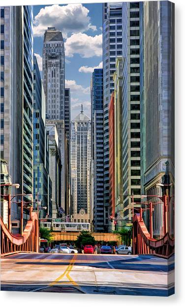 Chicago Lasalle Street Canvas Print