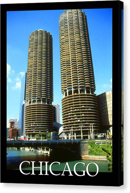 Chicago Poster - Marina City Canvas Print