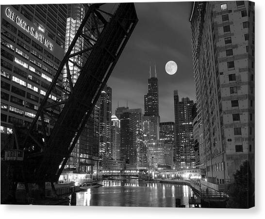 Chicago Bears Canvas Print - Chicago Pride Of Illinois by Frozen in Time Fine Art Photography