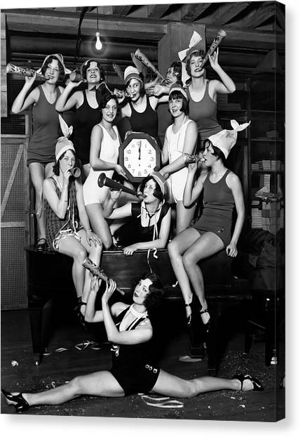 Midnite Canvas Print - Chicago Prohibition New Years 1927 by Daniel Hagerman
