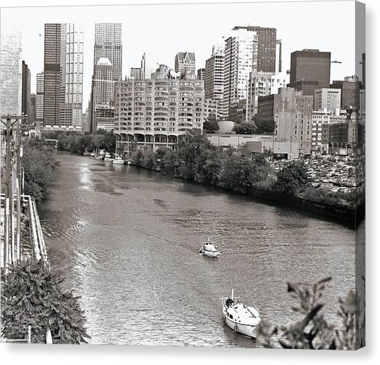 Chicago River Canvas Print by Eric Belford