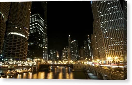 Chicago River Nights Canvas Print