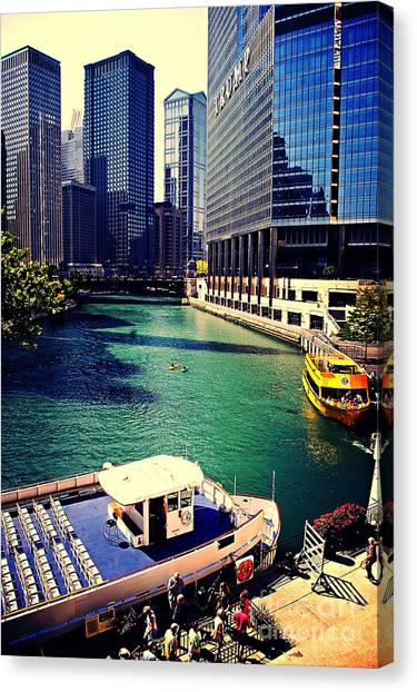City Of Chicago - River Tour Canvas Print