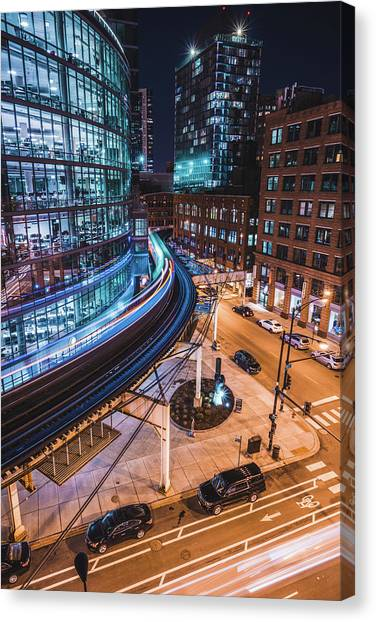 Chicago S Train Canvas Print