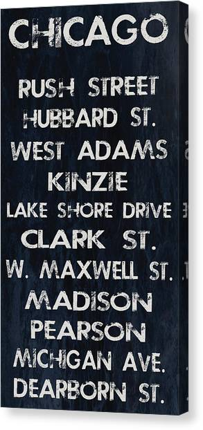 Chicago Sites Canvas Print