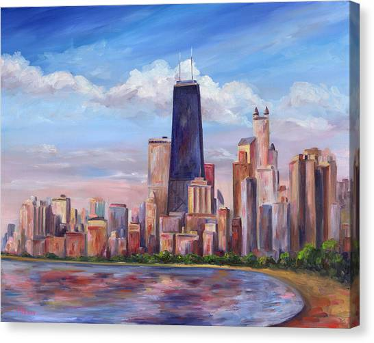 Chicago Canvas Print - Chicago Skyline - John Hancock Tower by Jeff Pittman