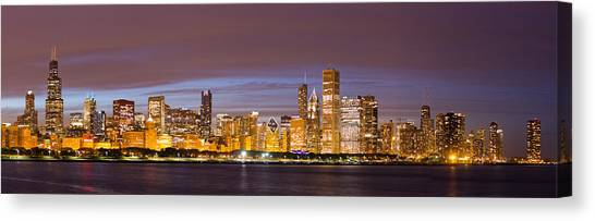 Chicago Skyline Art Canvas Print - Chicago Skyline From Adler  by Twenty Two North Photography