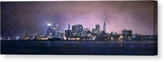 Lake Michigan Canvas Print - Chicago Skyline From Evanston by Scott Norris