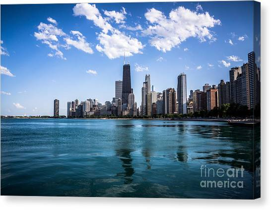 Hancock Building Canvas Print - Chicago Skyline Photo With Hancock Building by Paul Velgos