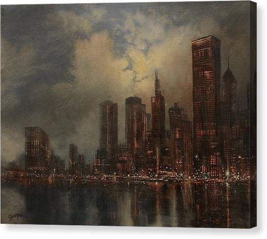 Chicago Skyline Canvas Print by Tom Shropshire