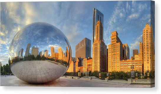 Illinois Canvas Print - Chicago Skyline by Twenty Two North Photography